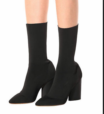 664b6ee387ede Yeezy Season 4 Women s Black Stretch Knit Boots Sz 40 10 exceptional  condition