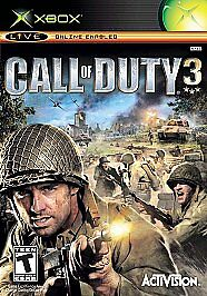 Call of Duty 3 (Microsoft Xbox, 2006)  FAST SHIPPING   ACTIVISION