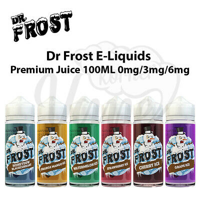 Dr Frost E Liquid 100ml Shortfill 0mg 3mg 6mg Vape Juice All Flavor Creamy & Ice