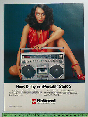 1979 vintage ad NATIONAL Portable Stereo Dolby Tape Radio HiFi old advertisement