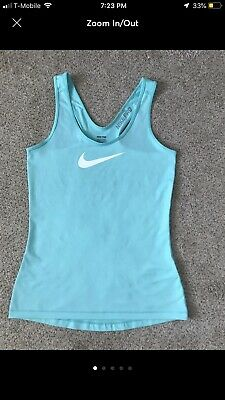 89d829459a3775 Nike Pro Dri fit athletic tank top Women s sz S racer back workout gear  Menthol