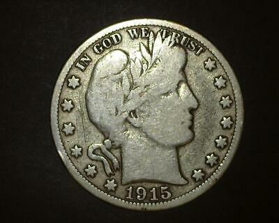 1915-S Barber Half-Dollar  Silver  Very Good    ~371831-Ro