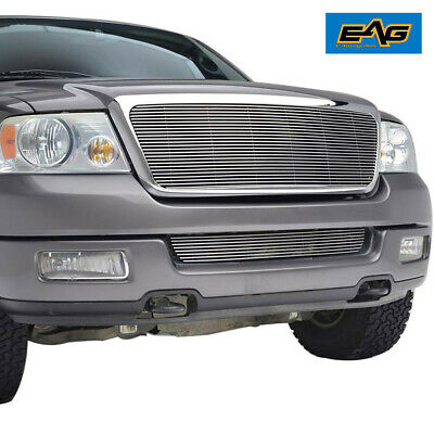 Fit for 2004-2008 Ford F150 Chrome Aluninum Billet Grille+Shell