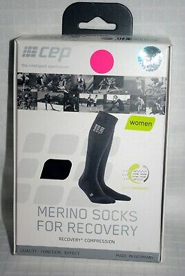 5788d3293c NWT Women's CEP Merino Compression Socks For Recovery Black Size III ...