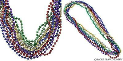 Rhode Island Novelty 33 inch - 7 mm Mardi Gras Beads | Colors May Vary |...