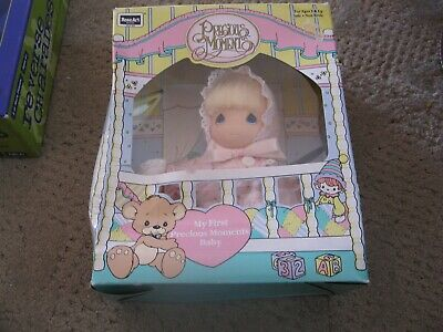 1992 RoseArt My First Precious Moments Vinyl Baby Doll  6IN IN BOX