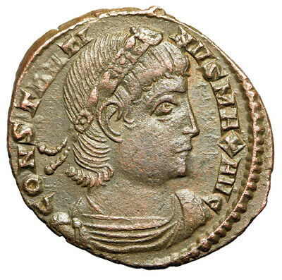 BEAUTIFUL PORTRAIT Constantine I The Great Coin CERTIFIED AUTHENTIC Good VF