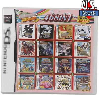 468 In 1 Games Game Multi Cartridge For DS NDS NDSL NDSi 3DS 2DS XL US stock