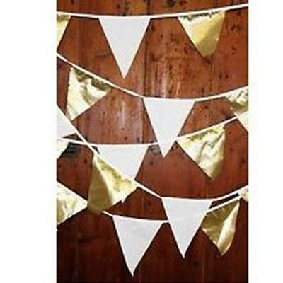 Linen Bunting Triangle Flags Lace Banner Garland Party Wedding Home Decor WA