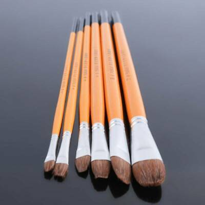 6pcs Art Paint Brush Nylon Brushes For Oil Watercolor Acrylic Painting Artist WA