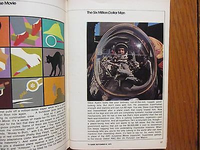 1973 FALL PREVIEW TV Guide (THE SIX MILLION DOLLAR  MAN/SALLY FIELD/THE MAGICIAN