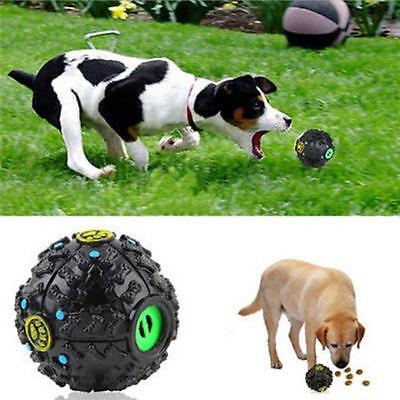 Tough Food Dispenser Giggle Ball Sound Chew Pet Dog Cat Treat Trainning Toy SW