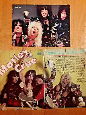 2 8X11 Rock Poster Clipping Of Motley Crue Shout At The Devil 1983 Era
