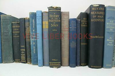 Lot 5 of BLUE / Shades of blue Old Vintage Antique Rare Hardcover Random