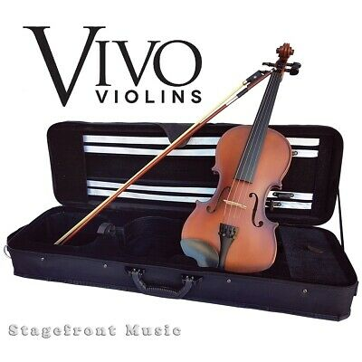 Vivo Full Size 4/4 Student Violin Package Solid Spruce Top Outfit With Pro Setup