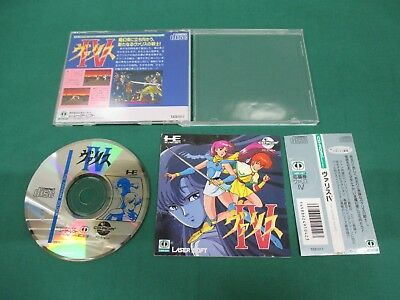 VALIS SUPER CD-ROM NEC PC Engine Hu Card Japan Import Game