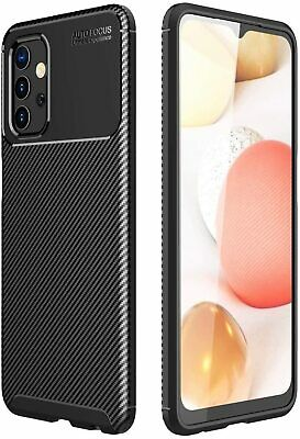For Samsung Galaxy A30 A50 Matte Frosted Protective TPU Back Cover Carbon Case