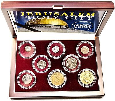 Jerusalem: The Holy City: A Collection of 8 Coins,In Beautiful Presentation  Box