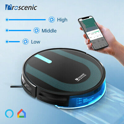 Proscenic 790T Alexa Robotic Vacuum Cleaner Map Navigation LCD Dry Wet Cleaning