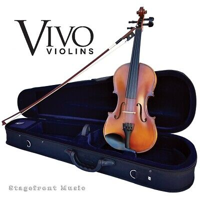 Vivo Encore 3/4 Student Violin Package Solid Spruce Top Outfit With Pro Setup