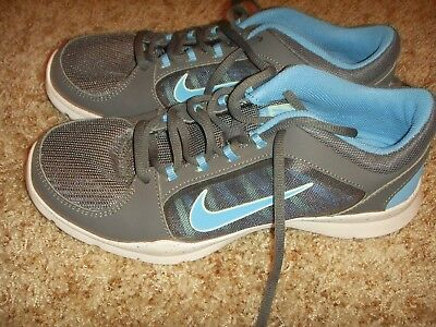 8f1b15379c554 NIKE FLEX TRAINER 4 GRAY BLUE TRAINING SHOES 643083-005 Womens Size 8