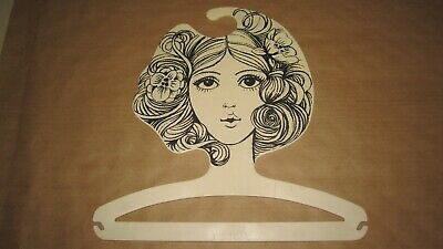 Ges. Gesch 60s Mod Boutique Fashion Model Face Display Plastic Clothes Hanger