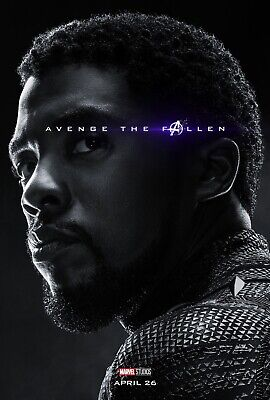 Avengers Endgame Movie Poster 12x18 Photo MARVEL COLECTIBLE PRINT Black Panther