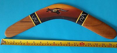 Aboriginal vintage returning boomerang - kangaroo art