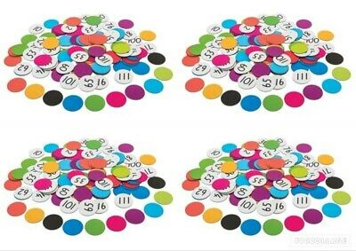 Large Magnetic 2-Sided Number Counters 40mm 120p Maths Games Teacher Resources