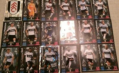 Match Attax 2018/19 Fulham  Full 18 Card Team Set + ** 1 Extra Free **