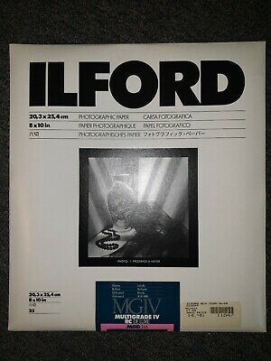 Ilford Multigrade Photo Paper IV RC DeLuxe 8x10in. 25qty - SEALED & ilfospeed
