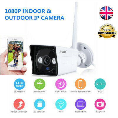 1080P HD Wireless Wifi IP Camera Smart IR Security CCTV Cam Night Vision Outdoor