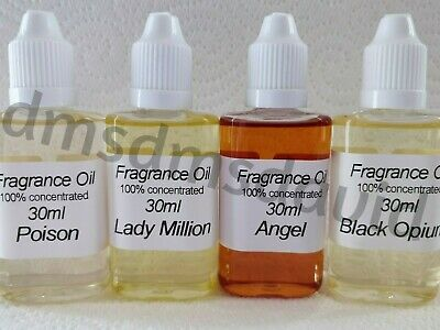 10ml   &  30ml Designer Fragrance Oils  Oil Burners Diffusers  Dropper bottle
