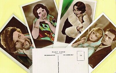 ROSS VERLAG 'FOREIGN' - 1930s Hand-Coloured ☆ FILM STAR ☆ Postcards #81 to #156