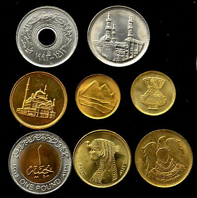 Egypt Trade Union Federation Silver Jubilee Coins Commemorative Set Vinyl Holder Collectibles