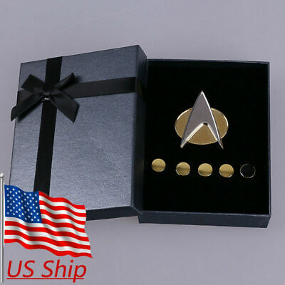 Star Trek Badge The Next Generation Communicator Pins and Rank Pips Pin Set Of 6