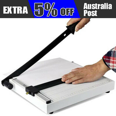 AU New A4 to B7 Size Paper Cutter Guillotine Trimmer 12 Sheets B4 A4 B5 A5 B6 B7