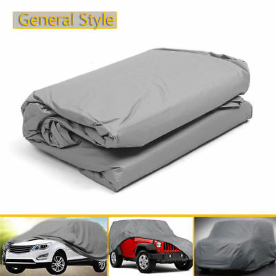 Large Universal Full Car Cover Anti Waterproof Dust Dirt Scratch UV Resistant XL