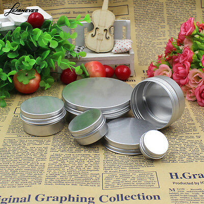 50PCS Aluminum Cosmetic Tin 15ML/50ML Pot Lip Balm Jar Container Oil Wax Empty