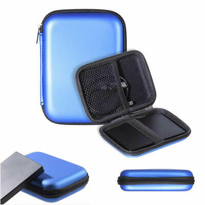 """BLUE Portable Carry Case for 2.5"""" USB External Hard Disk Drive HDD PC & Laptop"""
