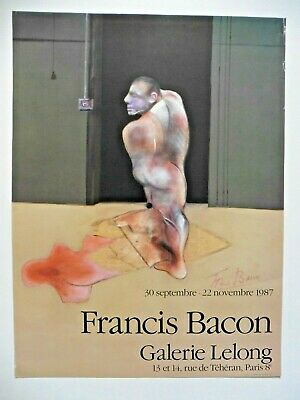 Poster affiche original Francis Bacon Signed Lithographie 1987
