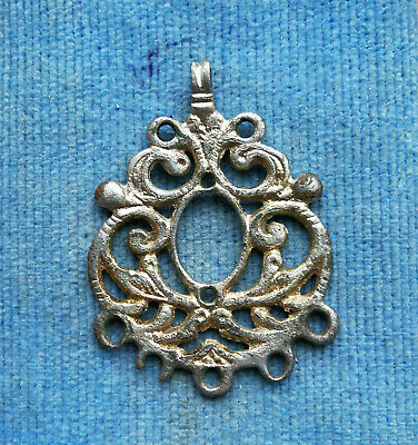 Ancient Viking Silvered Tin pendant AMULET GREAT SAVE