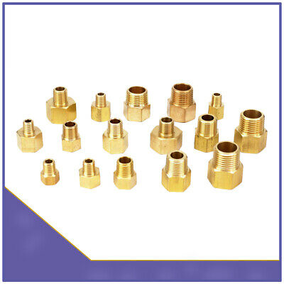 Brass BSP Male to Female Thread Pipe Fittings Tubing Hex Nipple Connectors Joint