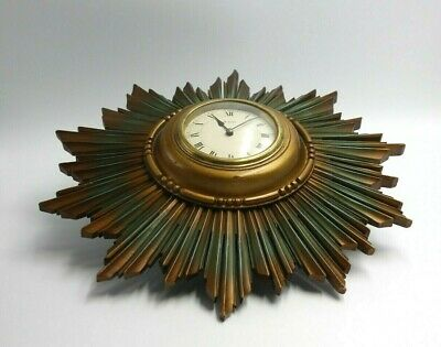 Art Deco French Sunburst 8 day wall clock - NOT WORKING for restoring