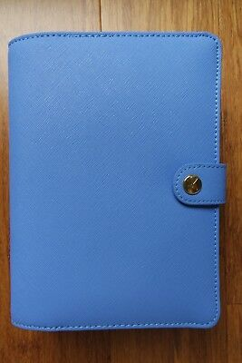 Kikki K COBALT medium textured leather personal planner diary agenda BRAND NEW