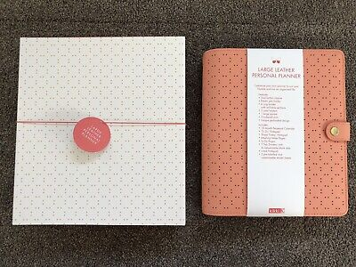Kikki K PEACH large A5 perforated personal planner diary agenda BRAND NEW in BOX