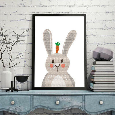 rabbit animal HD Modern Home Wall Decor Abstract Canvas Print Oil Painting  G7D7