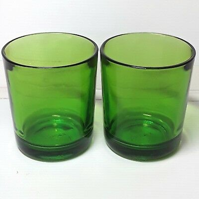 Durax Glasses Green drinking glass tumblers Vintage Old Retro