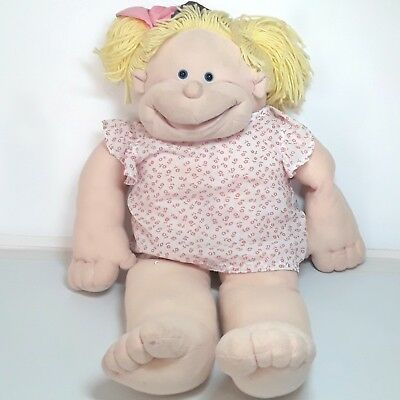 Rigadoon doll puppet plush soft toy Yellow Blonde hair Large Flawed