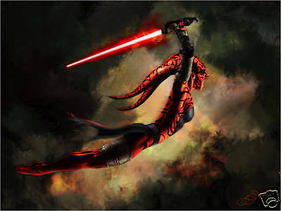 Star Wars DARTH TALON ATTACKS Original 11x17 Art Print signed by Scott Harben